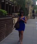 Woman in BlueDress