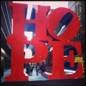 Hope, Robert Indiana - NYC