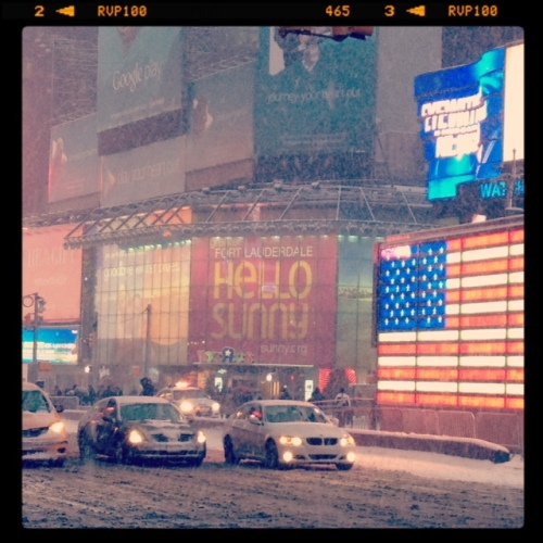 Times Square, NYC Snowmagaddon 2015